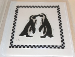 Penguin Checkerboard Plate